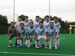 Beijing Booming HighChem Football team at the football game for celebrating the 15th anniversary of HighChem Group, 2013